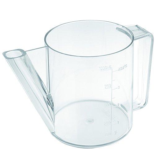 Fetttrennkanne 1,0 Liter SAN, mit Mess-Skala mit Mess-Skala